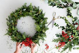 Making a Holiday Wreath